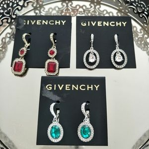 3 NEW GIVENCHY EARRINGS
